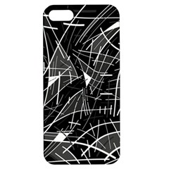 Gray Abstraction Apple Iphone 5 Hardshell Case With Stand by Valentinaart