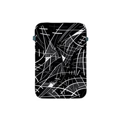 Gray Abstraction Apple Ipad Mini Protective Soft Cases by Valentinaart