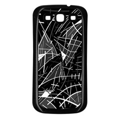 Gray Abstraction Samsung Galaxy S3 Back Case (black) by Valentinaart