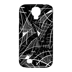 Gray Abstraction Samsung Galaxy S4 Classic Hardshell Case (pc+silicone) by Valentinaart