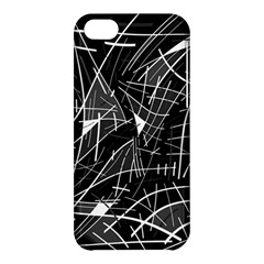 Gray Abstraction Apple Iphone 5c Hardshell Case by Valentinaart