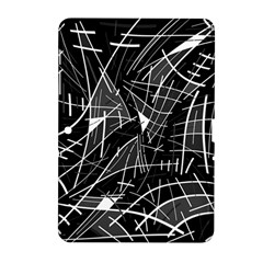 Gray Abstraction Samsung Galaxy Tab 2 (10 1 ) P5100 Hardshell Case  by Valentinaart