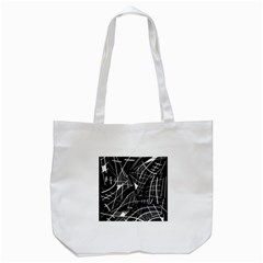 Gray Abstraction Tote Bag (white) by Valentinaart