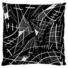 Gray Abstraction Standard Flano Cushion Case (one Side) by Valentinaart