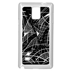 Gray Abstraction Samsung Galaxy Note 4 Case (white) by Valentinaart