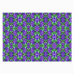 Pretty Purple Flowers Pattern Large Glasses Cloth (2 Side) by BrightVibesDesign