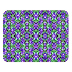 Pretty Purple Flowers Pattern Double Sided Flano Blanket (large)  by BrightVibesDesign