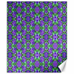Pretty Purple Flowers Pattern Canvas 8  X 10  by BrightVibesDesign