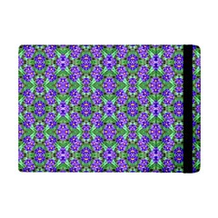 Pretty Purple Flowers Pattern Ipad Mini 2 Flip Cases by BrightVibesDesign