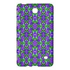 Pretty Purple Flowers Pattern Samsung Galaxy Tab 4 (7 ) Hardshell Case  by BrightVibesDesign