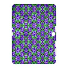 Pretty Purple Flowers Pattern Samsung Galaxy Tab 4 (10 1 ) Hardshell Case  by BrightVibesDesign