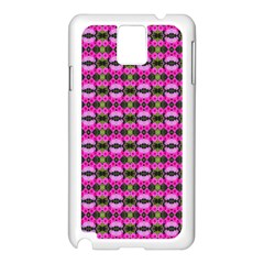 Pretty Pink Flower Pattern Samsung Galaxy Note 3 N9005 Case (white) by BrightVibesDesign