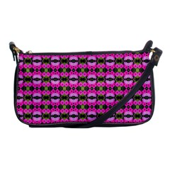 Pretty Pink Flower Pattern Shoulder Clutch Bags by BrightVibesDesign