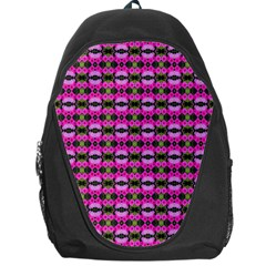 Pretty Pink Flower Pattern Backpack Bag by BrightVibesDesign