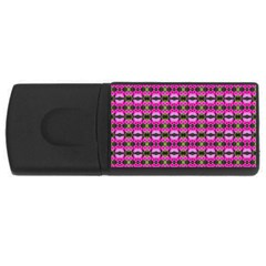 Pretty Pink Flower Pattern Usb Flash Drive Rectangular (4 Gb)  by BrightVibesDesign
