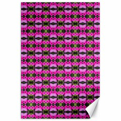 Pretty Pink Flower Pattern Canvas 20  X 30   by BrightVibesDesign
