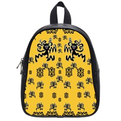 Disco Dancing In The  Tribal Nature  School Bags (small)  by pepitasart
