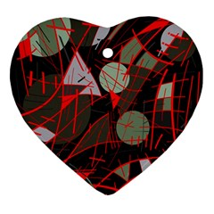 Artistic Abstraction Ornament (heart)  by Valentinaart