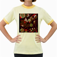 Artistic Abstraction Women s Fitted Ringer T Shirts by Valentinaart