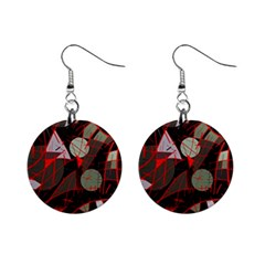 Artistic Abstraction Mini Button Earrings by Valentinaart