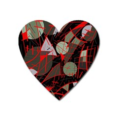 Artistic Abstraction Heart Magnet by Valentinaart
