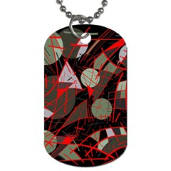 Artistic Abstraction Dog Tag (one Side) by Valentinaart
