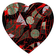 Artistic Abstraction Jigsaw Puzzle (heart) by Valentinaart