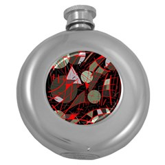 Artistic Abstraction Round Hip Flask (5 Oz) by Valentinaart