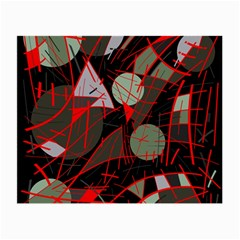 Artistic Abstraction Small Glasses Cloth (2 Side) by Valentinaart