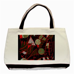 Artistic Abstraction Basic Tote Bag (two Sides) by Valentinaart