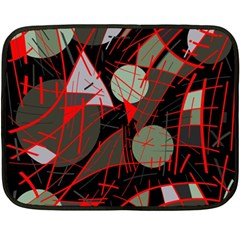 Artistic Abstraction Double Sided Fleece Blanket (mini)  by Valentinaart