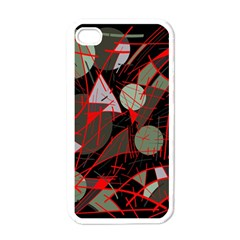 Artistic Abstraction Apple Iphone 4 Case (white) by Valentinaart