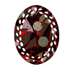 Artistic Abstraction Ornament (oval Filigree)  by Valentinaart