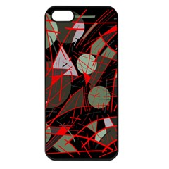Artistic Abstraction Apple Iphone 5 Seamless Case (black) by Valentinaart