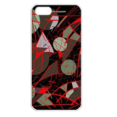Artistic Abstraction Apple Iphone 5 Seamless Case (white) by Valentinaart