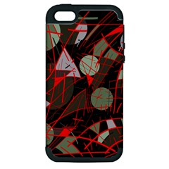Artistic Abstraction Apple Iphone 5 Hardshell Case (pc+silicone) by Valentinaart