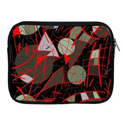Artistic Abstraction Apple Ipad 2/3/4 Zipper Cases by Valentinaart