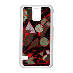 Artistic Abstraction Samsung Galaxy S5 Case (white) by Valentinaart