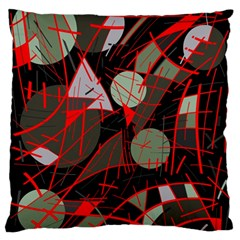 Artistic Abstraction Standard Flano Cushion Case (two Sides) by Valentinaart