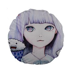 My Little Cloud Standard 15  Premium Round Cushions by kaoruhasegawa