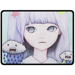 My Little Cloud Double Sided Fleece Blanket (large)  by kaoruhasegawa