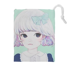 Spring Mint! Drawstring Pouches (extra Large) by kaoruhasegawa