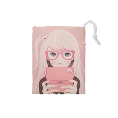 Gamegirl Girl Drawstring Pouches (small)  by kaoruhasegawa