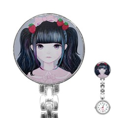 Nakayoshi Strawberry Stainless Steel Nurses Watch by kaoruhasegawa