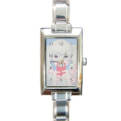 Gamegirl Girl Play With Star Rectangle Italian Charm Watch by kaoruhasegawa