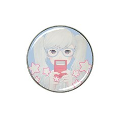 Gamegirl Girl Play With Star Hat Clip Ball Marker (4 Pack) by kaoruhasegawa