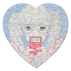 Gamegirl Girl Play With Star Jigsaw Puzzle (heart)