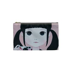 Smile Camare Cosmetic Bag (small)  by kaoruhasegawa