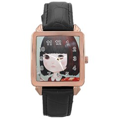 Maplesyrupsyndrome4 0 Rose Gold Leather Watch  by kaoruhasegawa