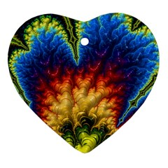 Amazing Special Fractal 25a Ornament (heart)
